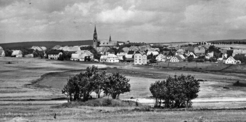 Fotografie města Hory sv. Šebestiána, rok ? [zdroj : Otakar Picálek]