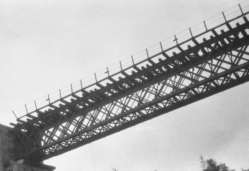 Pohled na nosnou konstrukci [zdroj : Jan Štefka, 1985]